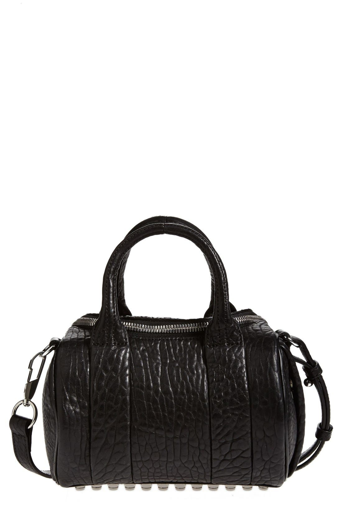 Main Image - Alexander Wang 'Mini Rockie - Nickel' Leather Crossbody Satchel