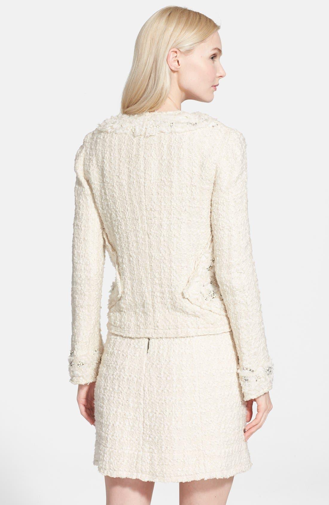 Alternate Image 2  - Alice + Olivia 'Nila' Embellished Tweed Jacket