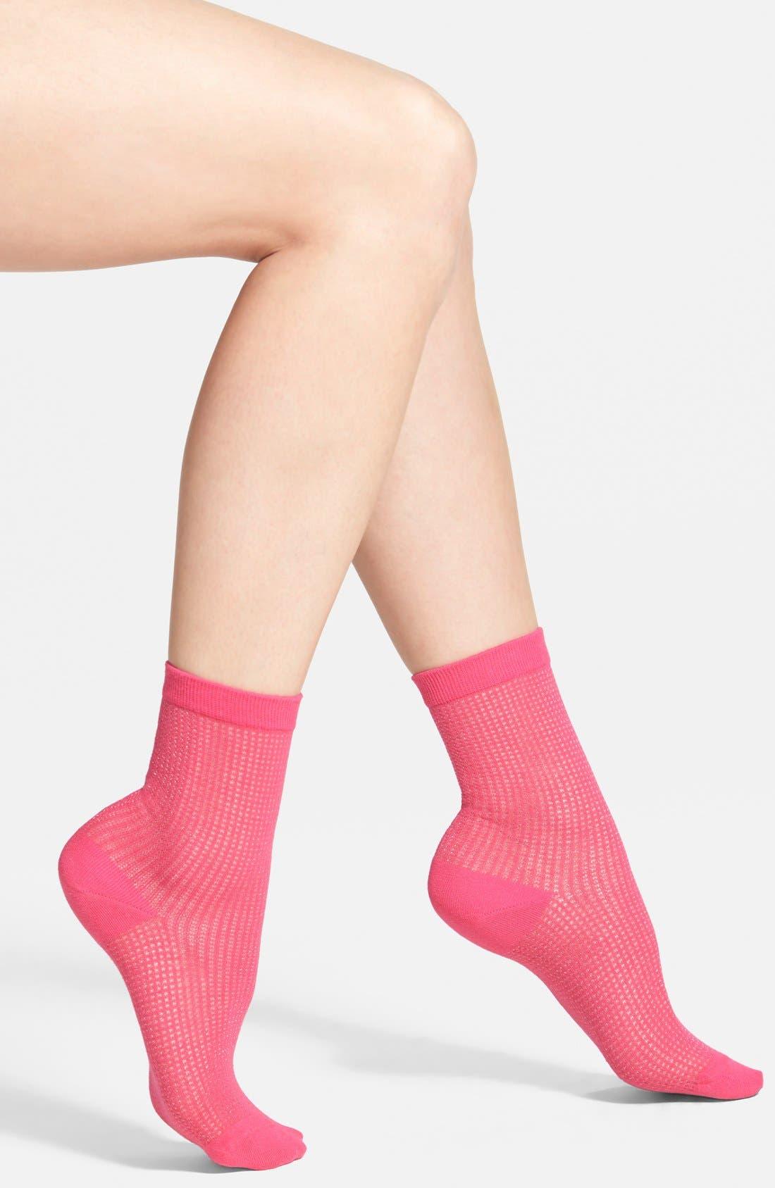 Alternate Image 1 Selected - kate spade new york 'filament caning' trouser socks