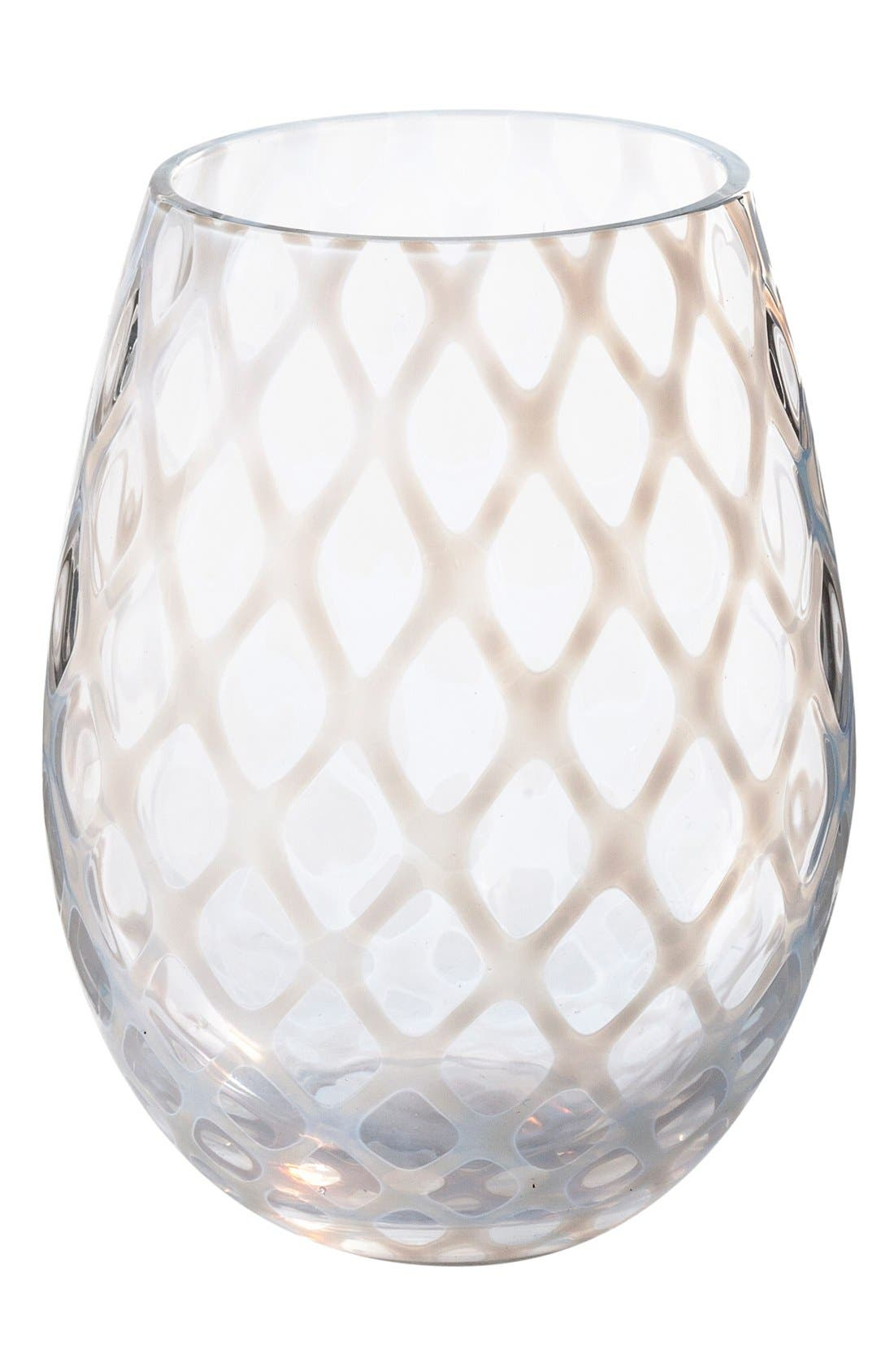 Alternate Image 1 Selected - Rosanna 'Lattice' Stemless Wine Glasses (Set of 4)