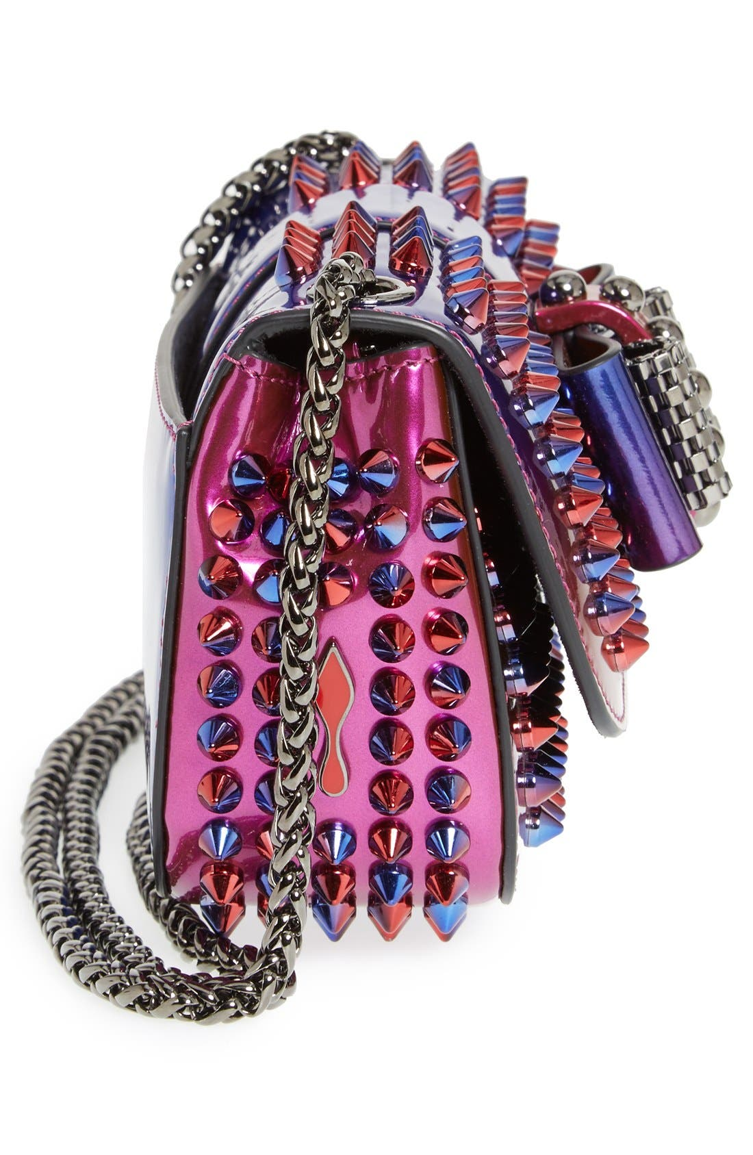 Alternate Image 5  - Christian Louboutin 'Sweety Charity Scarab Spike' Patent Leather Clutch