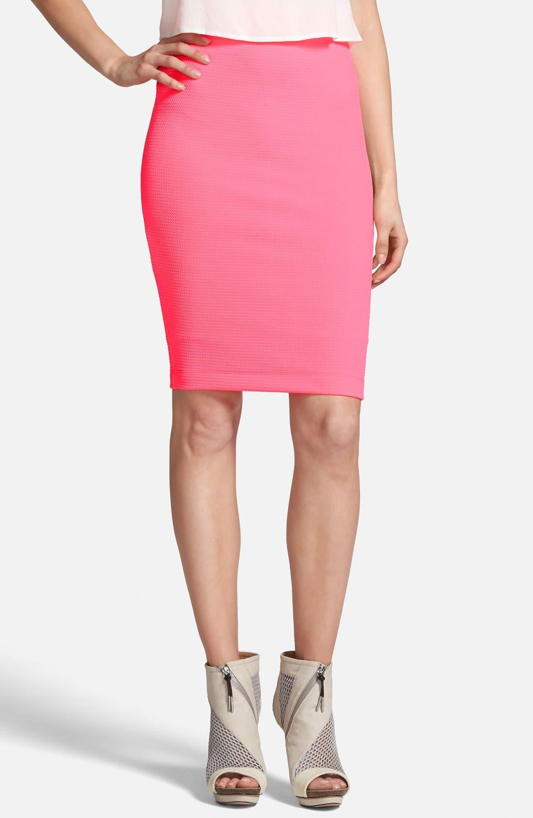Main Image - ASTR Textured Midi Skirt