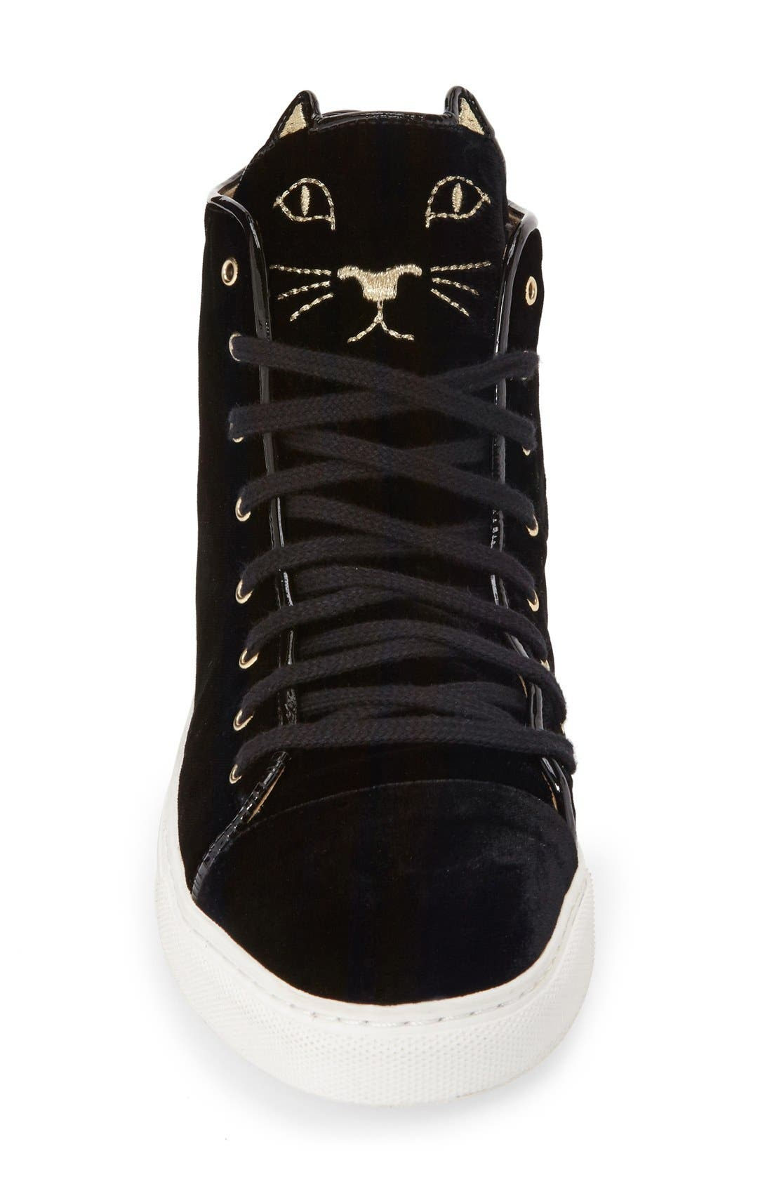 Alternate Image 3  - Charlotte Olympia 'Purrrfect' High Top Sneaker (Women)