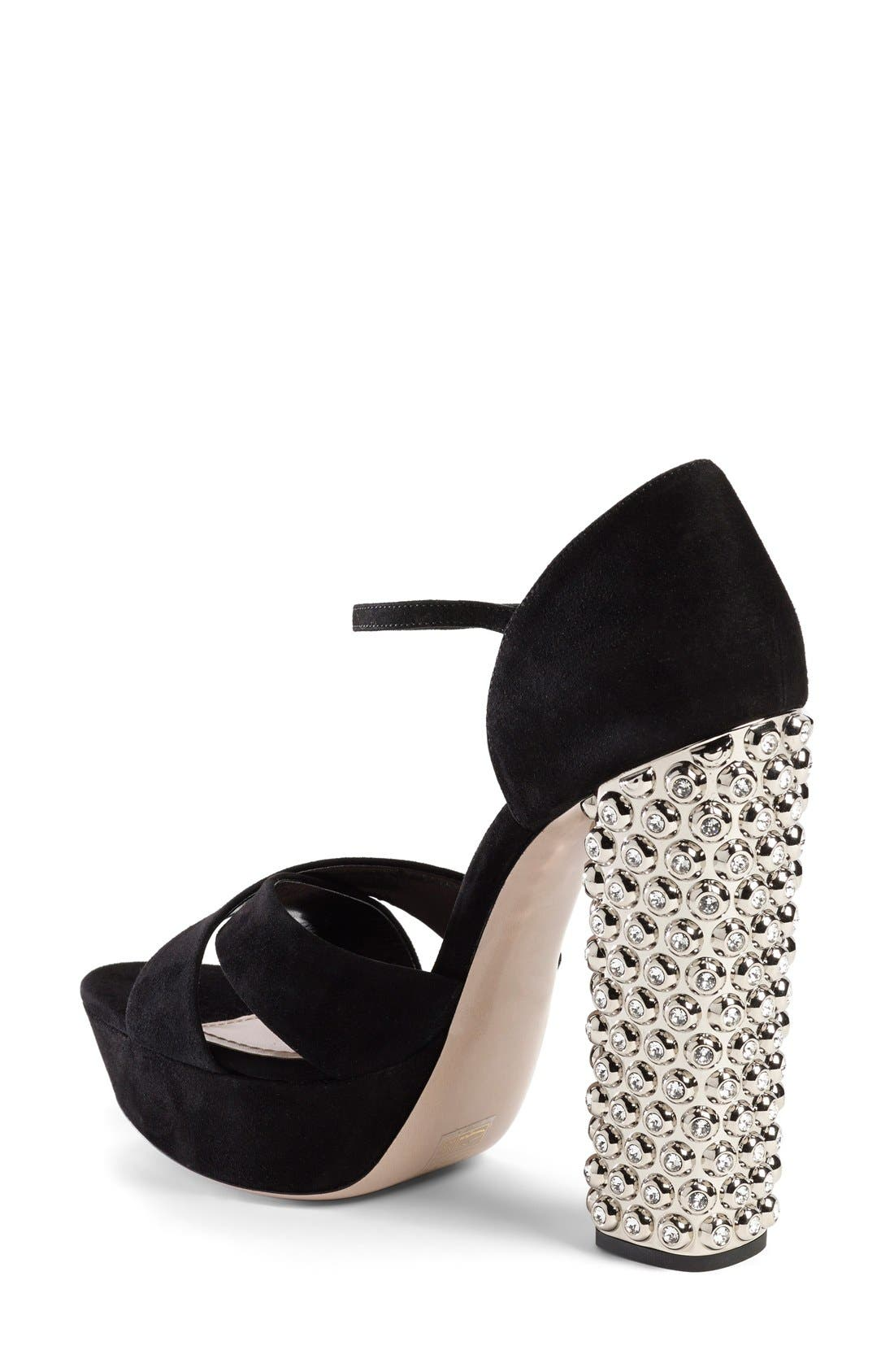 Alternate Image 2  - Miu Miu Jeweled Platform Sandal (Women)