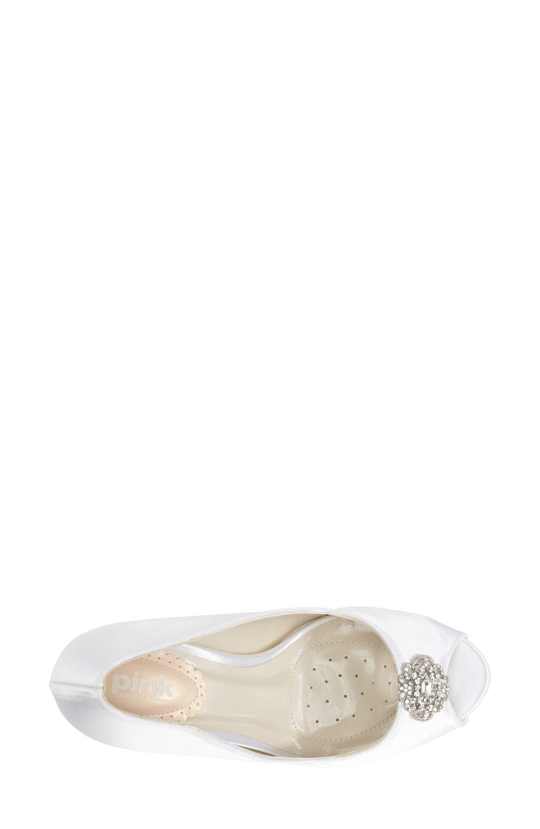 Alternate Image 3  - pink paradox london 'Lustre' Crystal Embellished Peep Toe Pump (Women)
