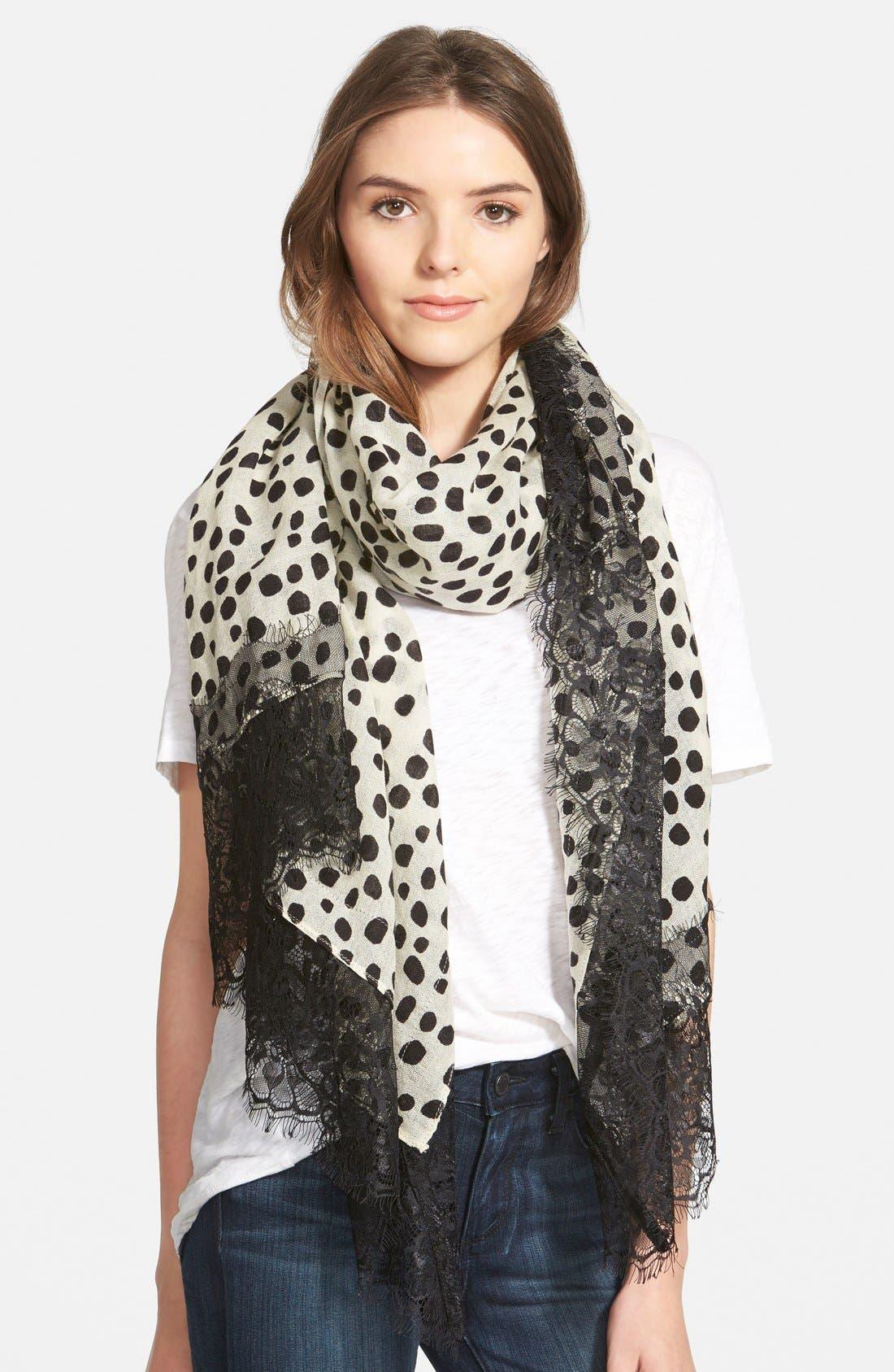 La Fiorentina Dot Print Wool Scarf