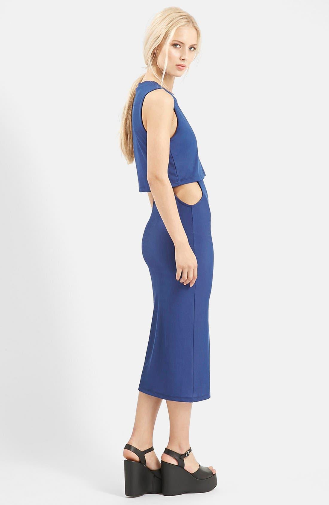 Alternate Image 2  - Topshop Sleeveless Cutout Midi Dress