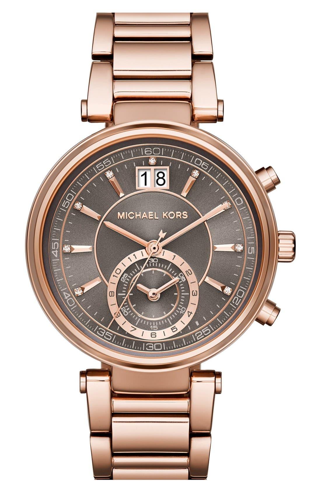 Main Image - Michael Kors 'Sawyer' Bracelet Watch, 39mm