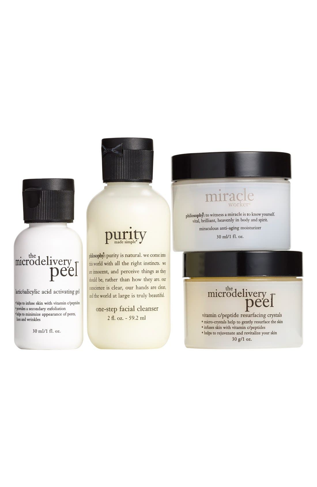 philosophy 'cleanse, peel, treat' trial kit ($71 Value)