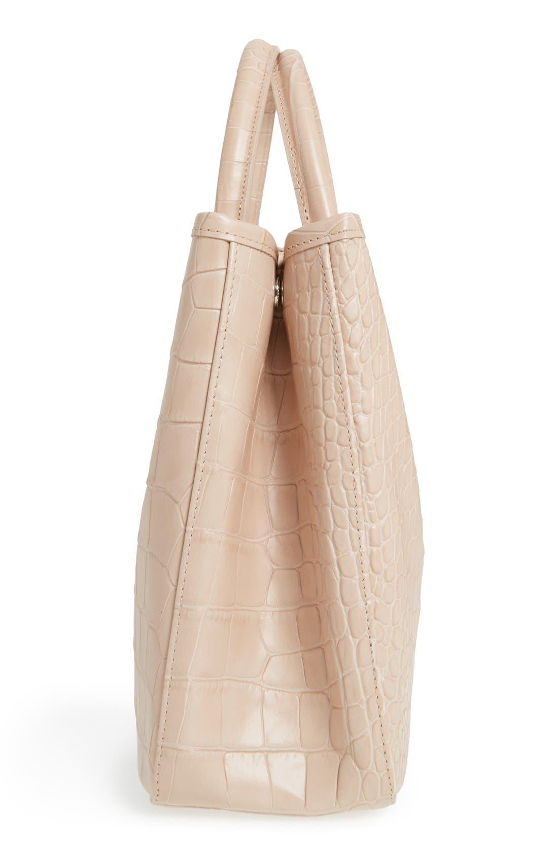 Alternate Image 5  - Longchamp 'Small Roseau Croco' Shoulder Tote