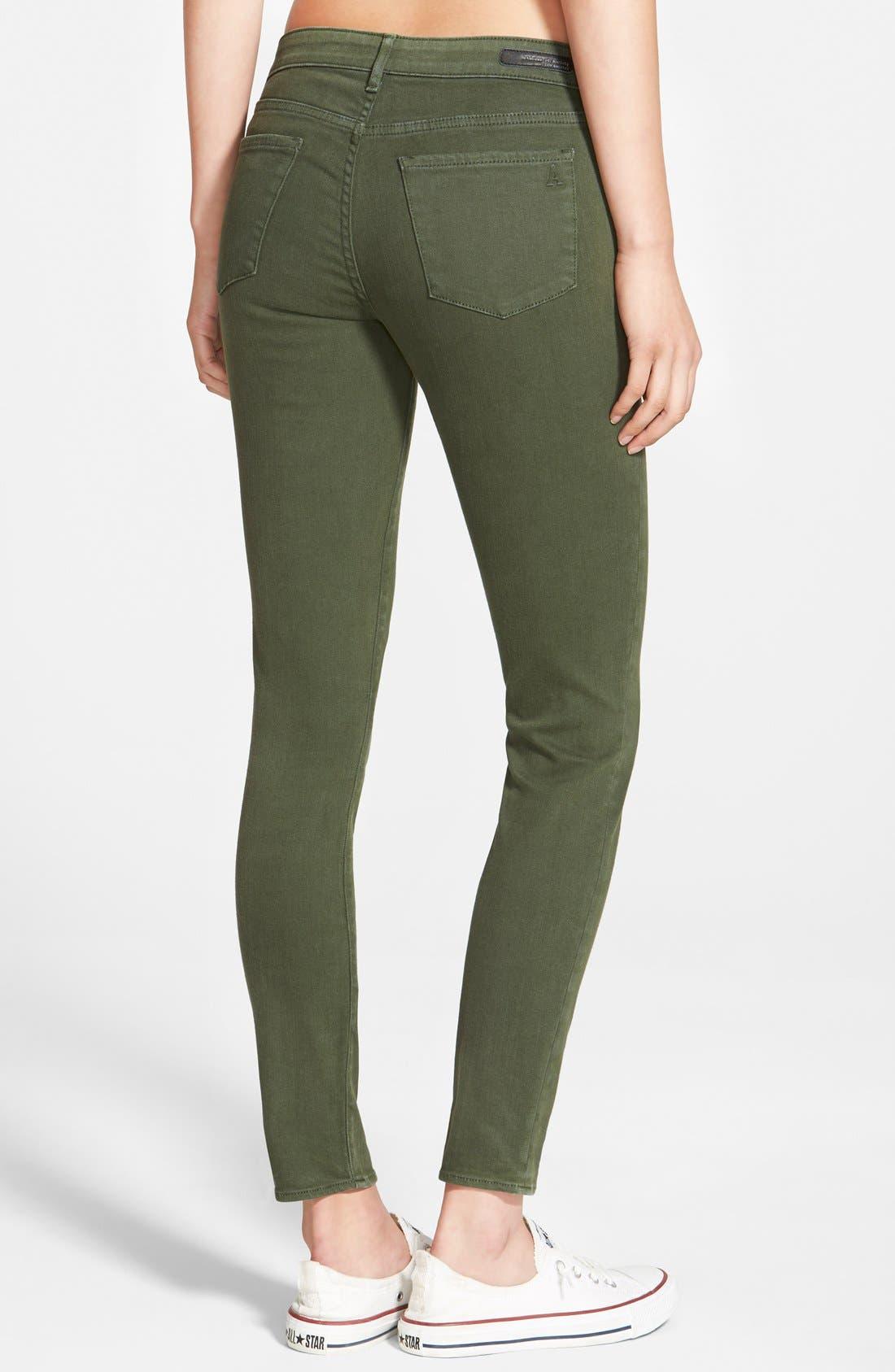 Alternate Image 2  - Articles of Society 'Cindy' Overdye Skinny Jeans (Olive)