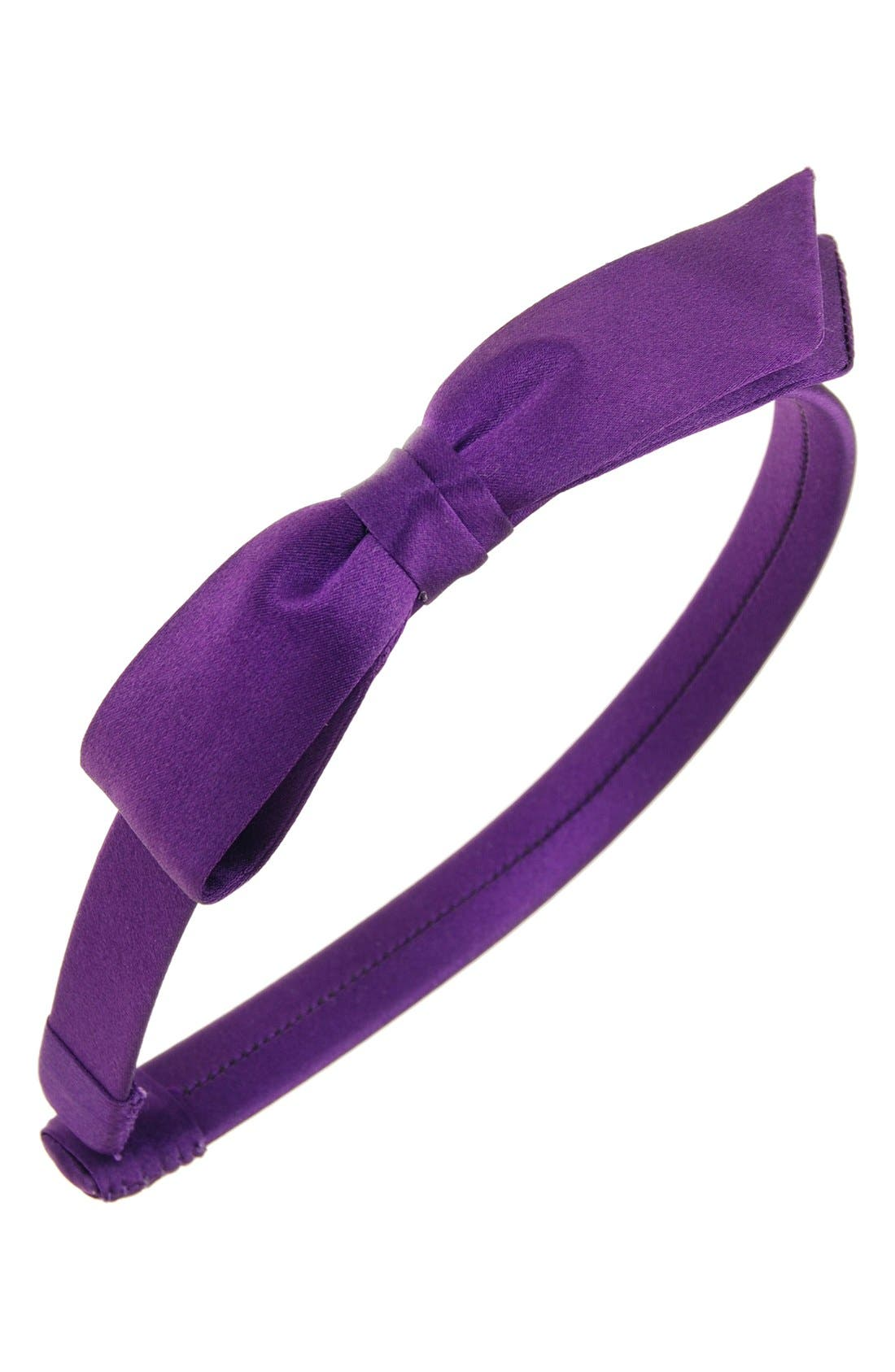 L. Erickson 'Bermuda Bow' Silk Headband (Girls)