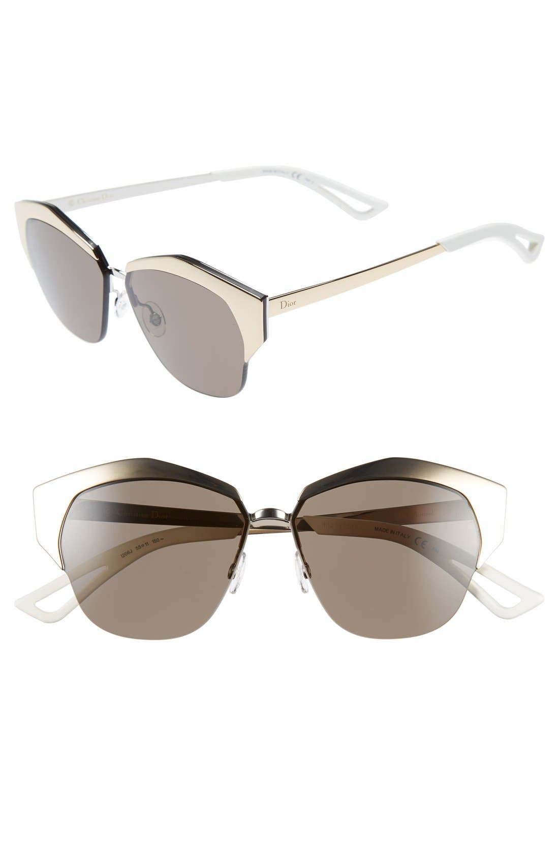 Alternate Image 1 Selected - Dior 'Mirrors' 55mm Cat Eye Sunglasses (Regular Retail Price: $490.00)
