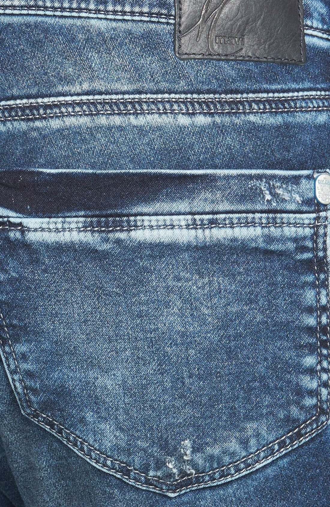 Alternate Image 3  - Mavi Jeans 'Emma' Distressed Boyfriend Slim Jeans (Mid Sporty)