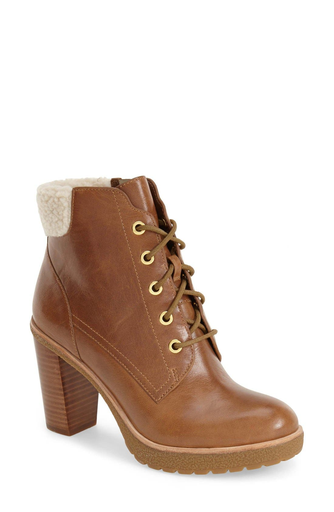 Alternate Image 1 Selected - MICHAEL Michael Kors 'Kim' Lace-Up Bootie (Women)
