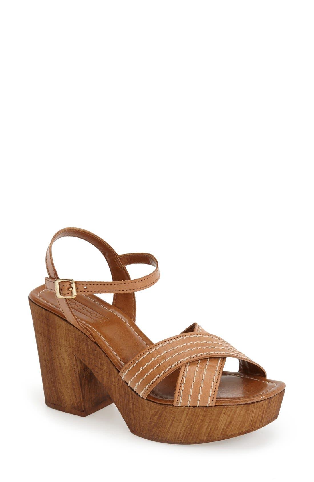 Alternate Image 1 Selected - Topshop 'Lauren' Clog Sandal (Women)