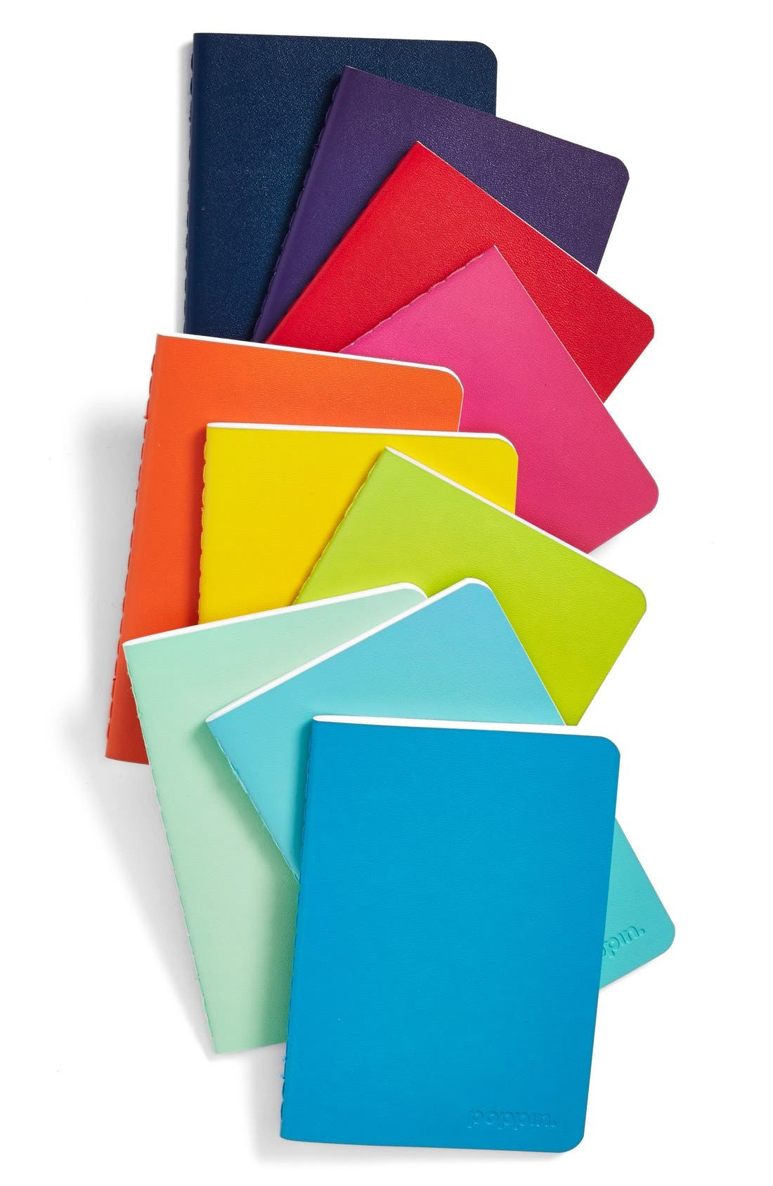 Alternate Image 1 Selected - poppin Mini Medley of Soft Cover Notebooks (Set of 10)