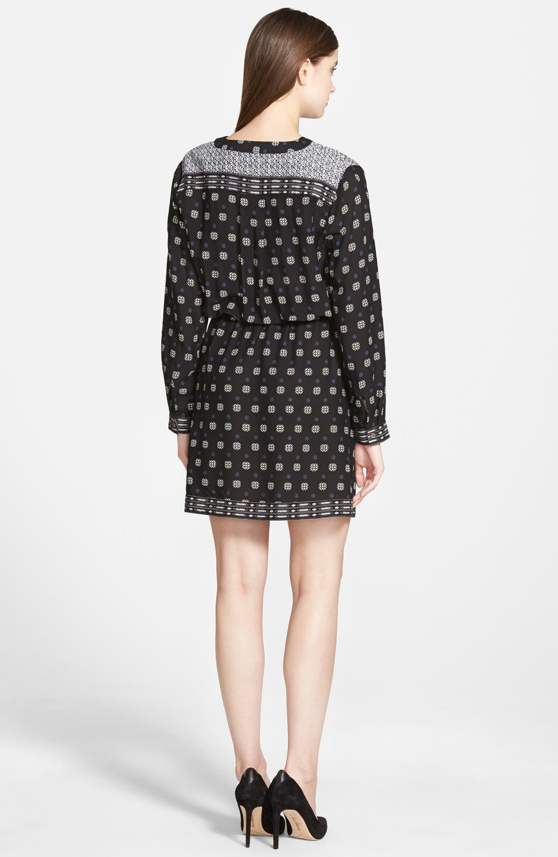 Alternate Image 2  - Two by Vince Camuto Foulard Border Shirtdress