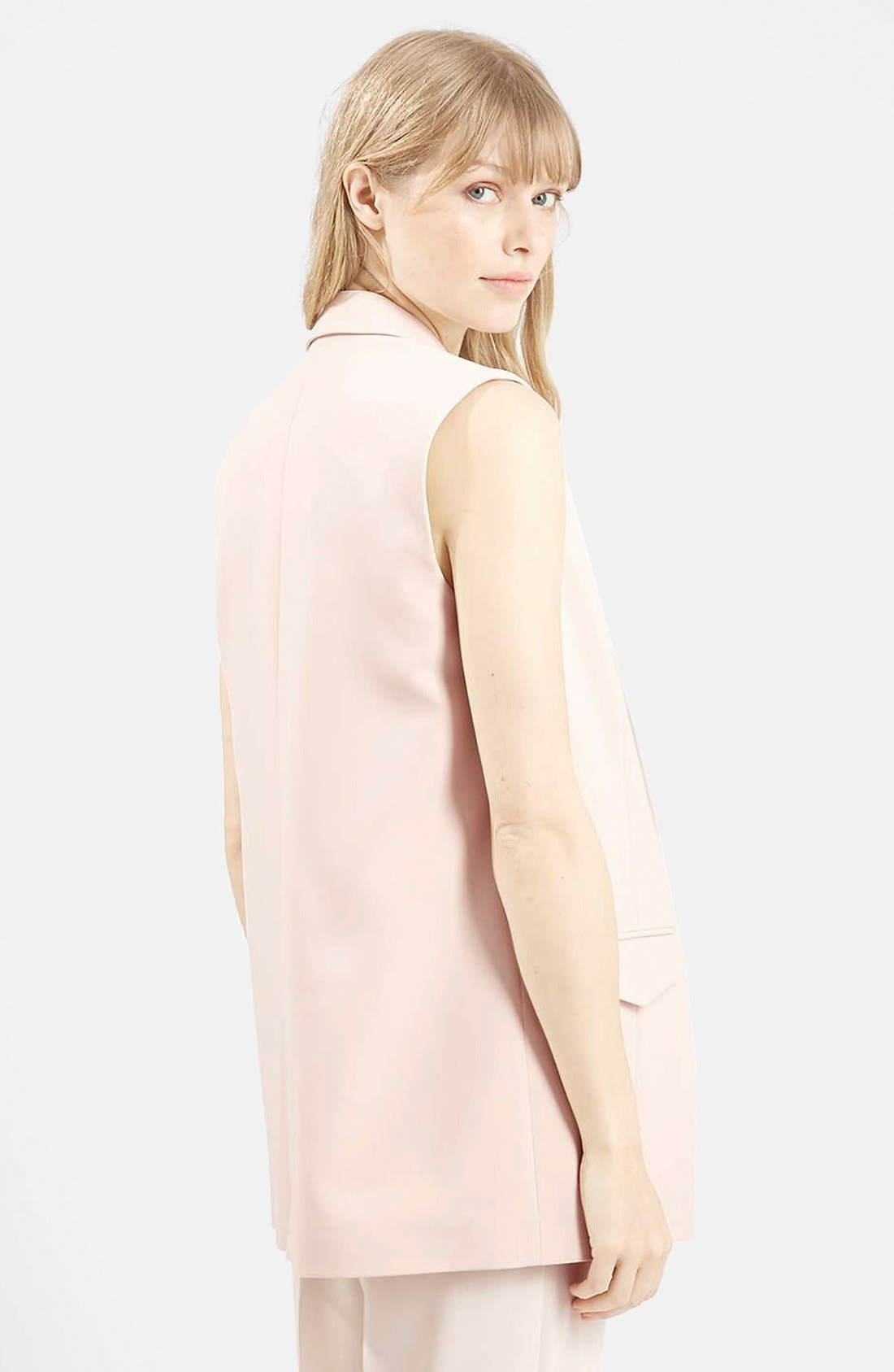 Alternate Image 3  - Topshop 'Holly' Sleeveless Jacket