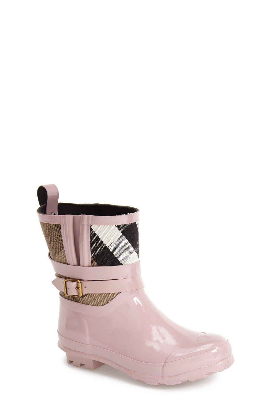 Main Image - Burberry 'Holloway' Rain Boot (Toddler & Little Kid)