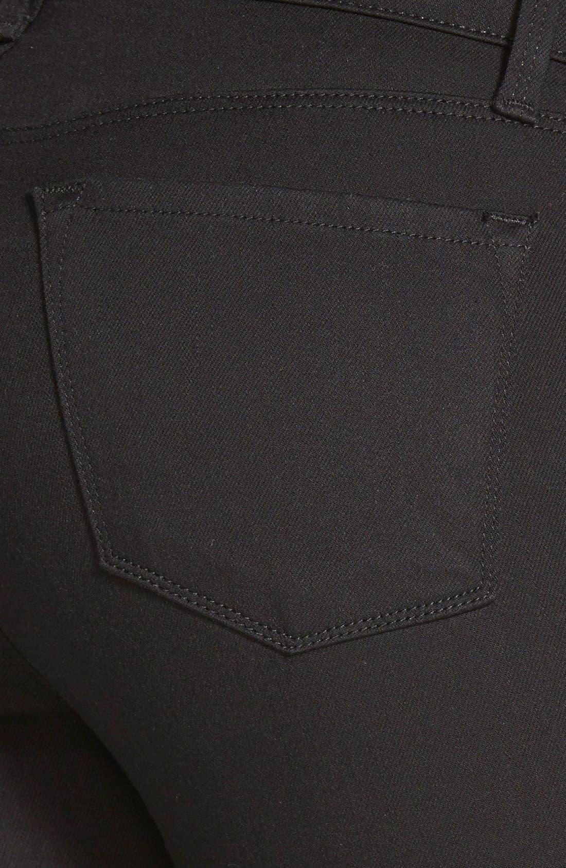 Alternate Image 3  - J Brand Maria High Waist Skinny Jeans (Seriously Black)