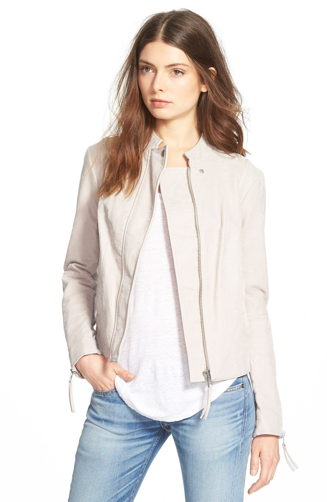 Alternate Image 1 Selected - Free People Faux Leather Jacket