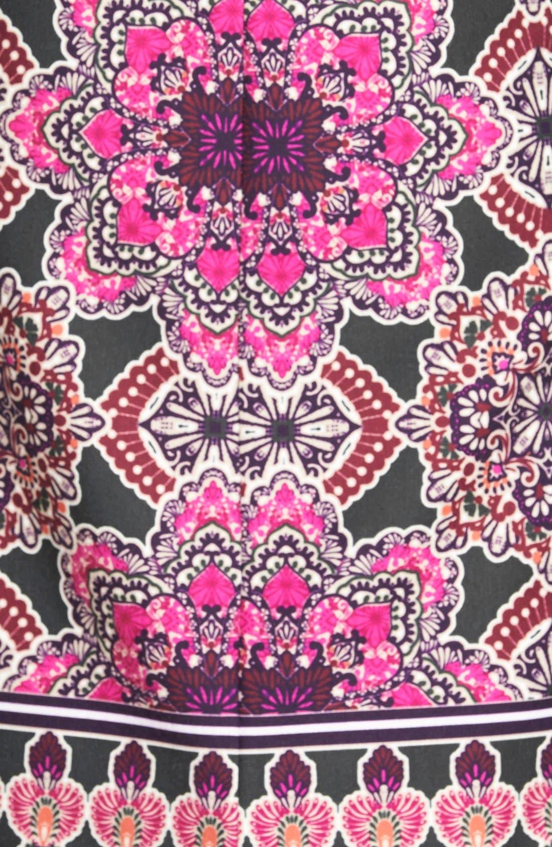 Alternate Image 4  - Eliza J Print Ponte Midi Sheath Dress