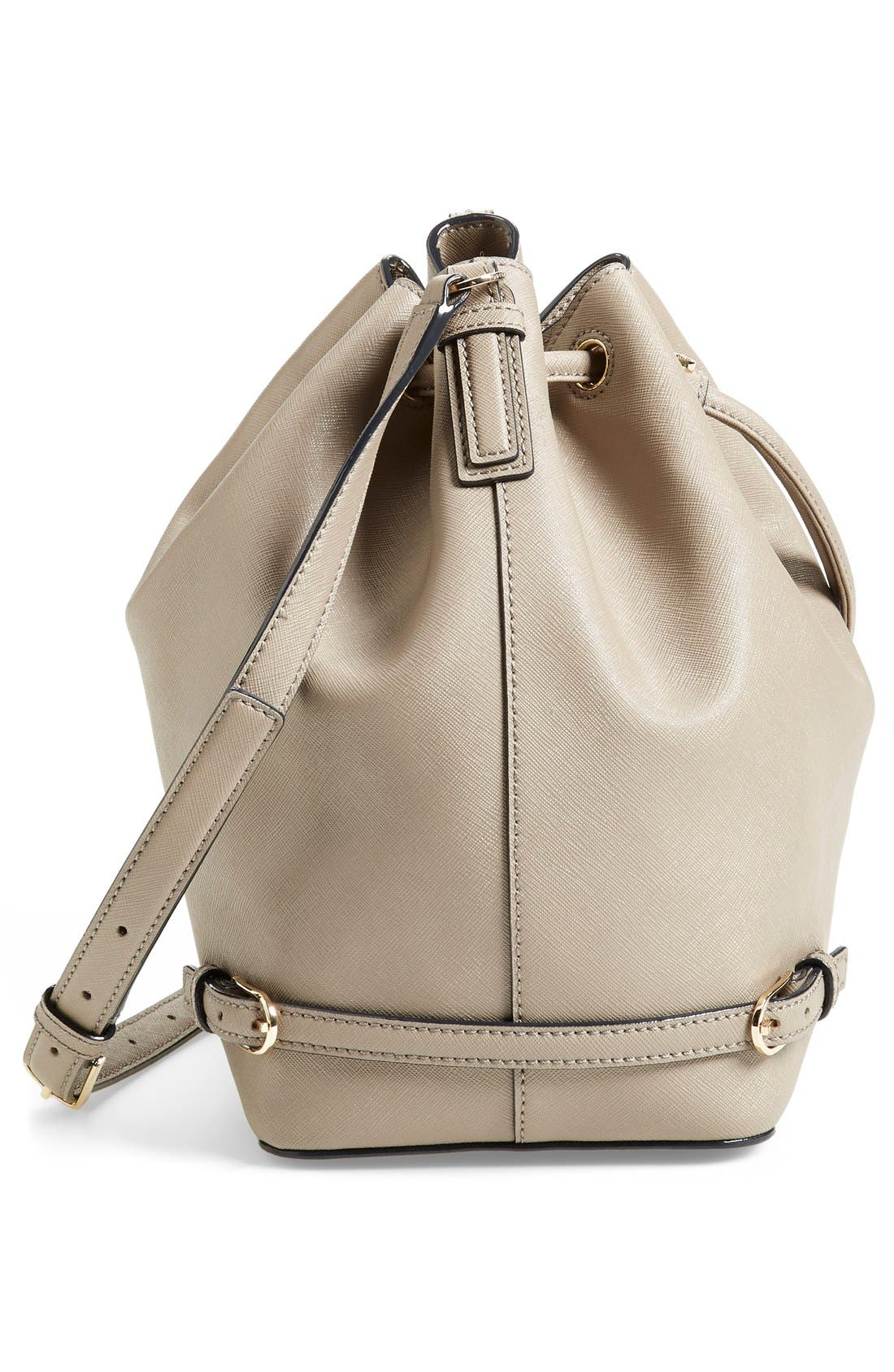 Alternate Image 5  - Tory Burch 'Robinson' Saffiano Leather Bucket Bag