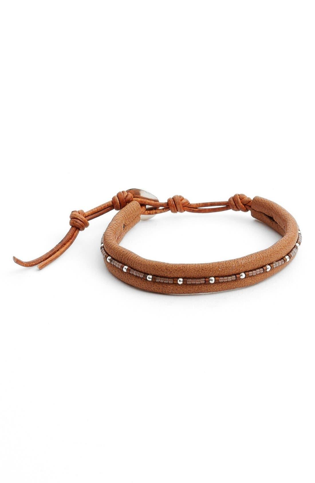 Alternate Image 1 Selected - Chan Luu Seed Beed Leather Bracelet