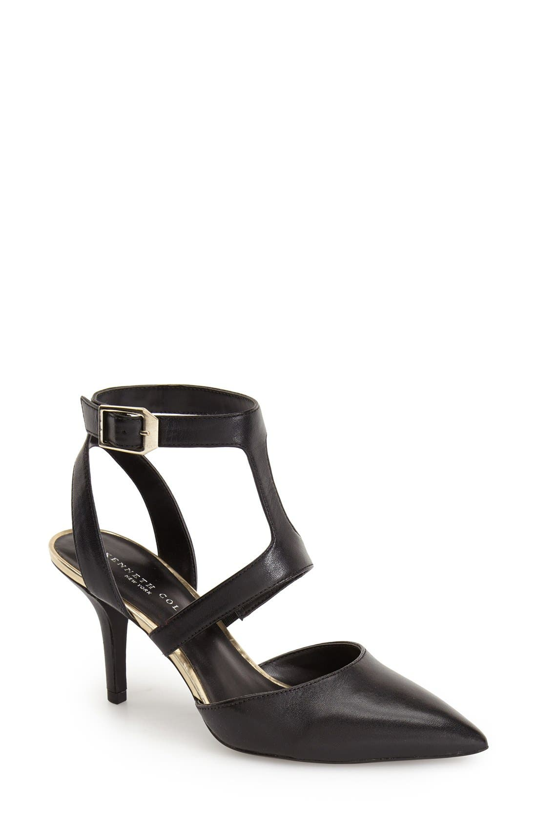 Kenneth Cole New York 'Laird' Strappy Pointy Toe Pump (Women)