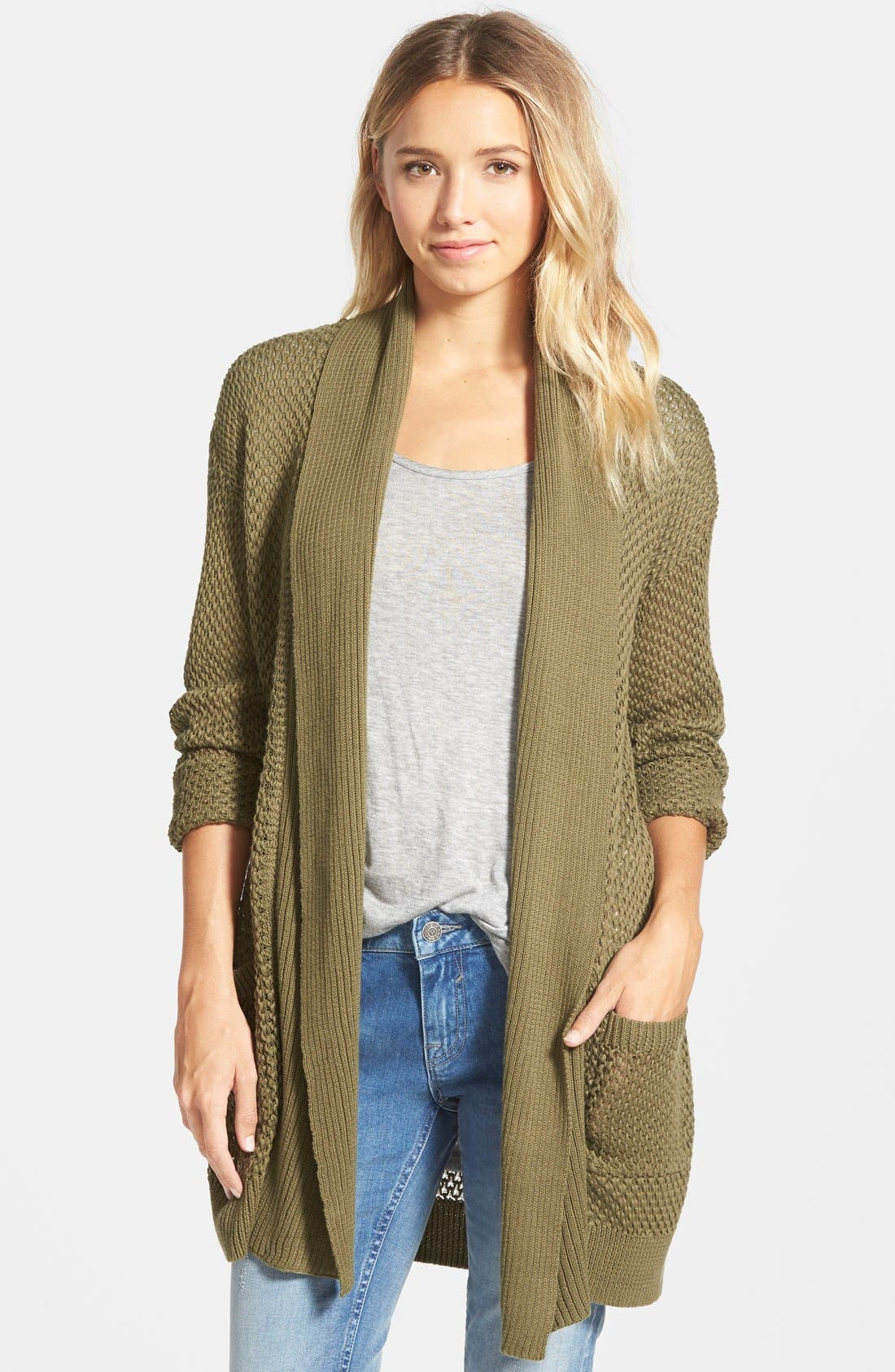 Alternate Image 1 Selected - BP. Long Textured Open Cardigan