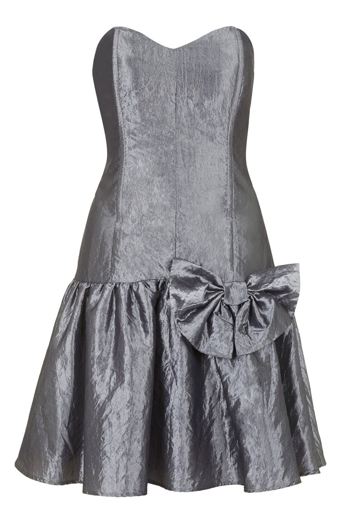 Alternate Image 3  - Topshop Archive Collection Taffeta Prom Dress