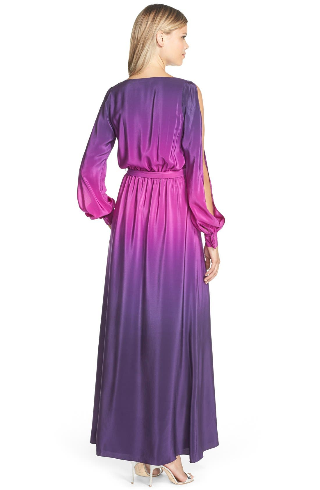 Alternate Image 2  - Jay Godfrey 'Palazzo' Ombré Silk Gown