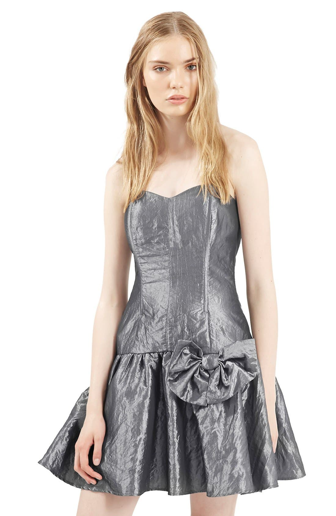 Alternate Image 5  - Topshop Archive Collection Taffeta Prom Dress