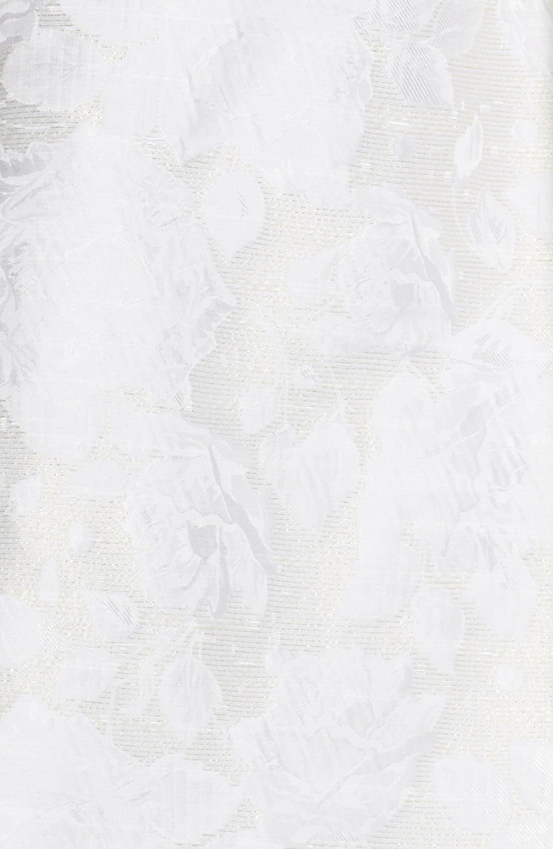 Alternate Image 4  - Aidan by Aidan Mattox Cutout Back Jacquard Fit & Flare Dress