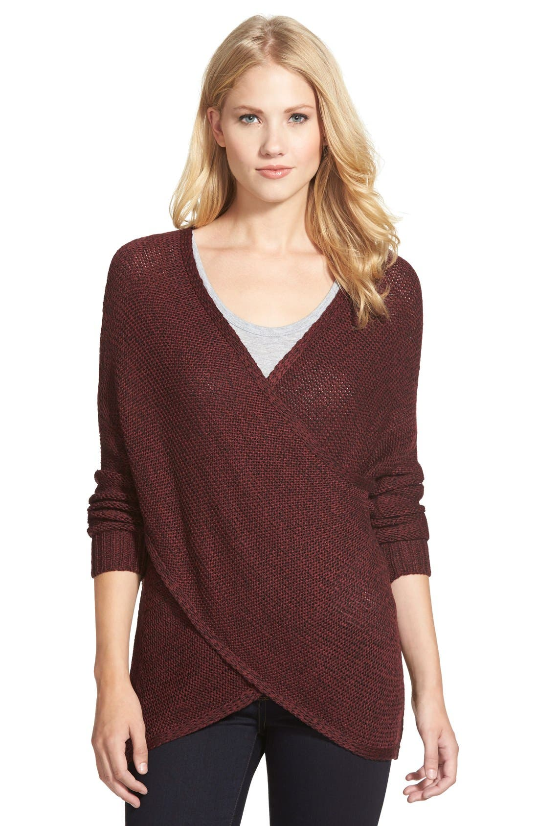 Alternate Image 1  - RD Style Wrap Front Sweater