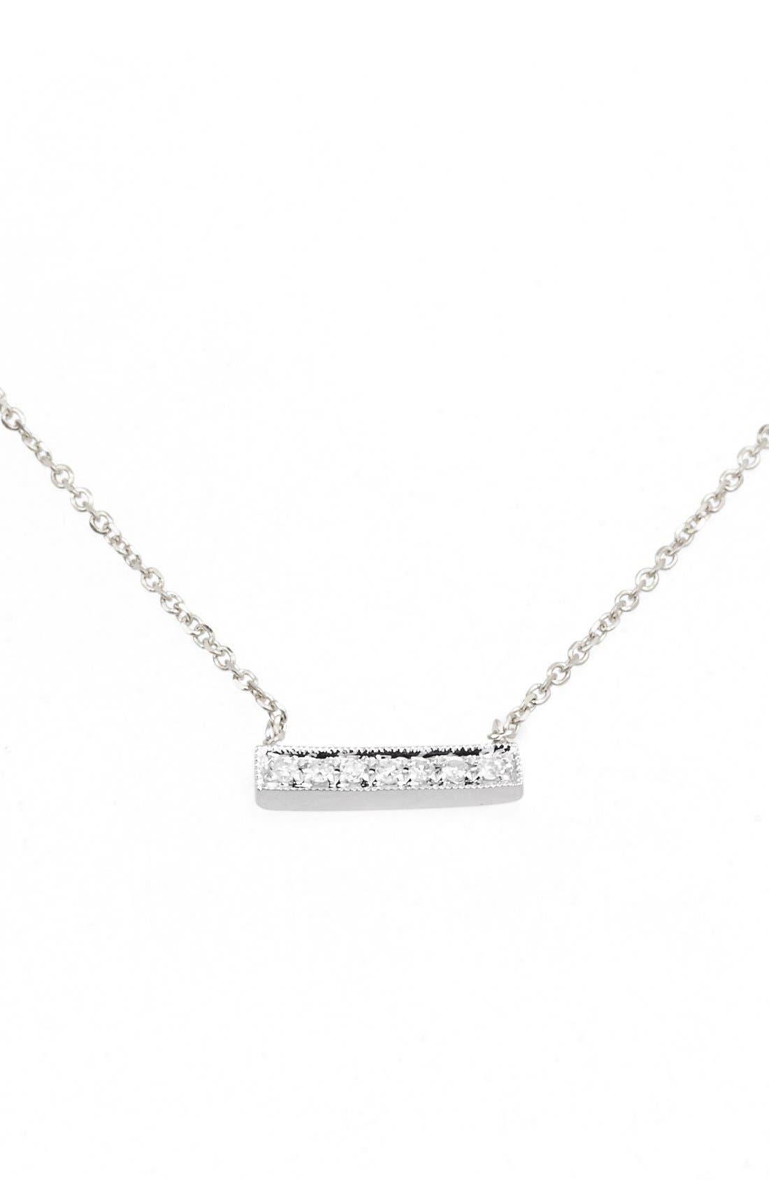 Alternate Image 1 Selected - Dana Rebecca Designs 'Sylvie Rose' Diamond Bar Pendant Necklace