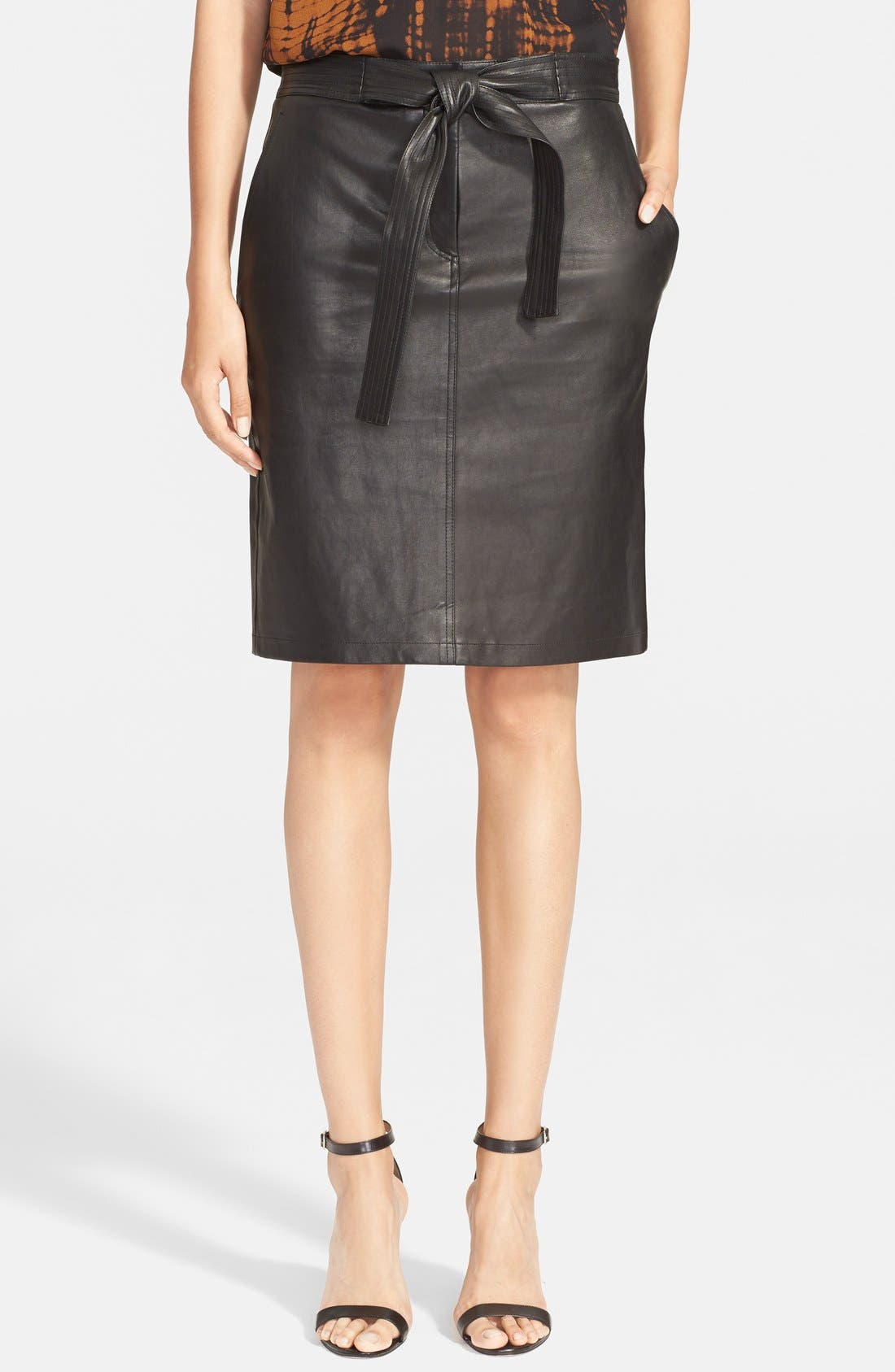 Main Image - A.L.C. 'Abigail' Leather Pencil Skirt