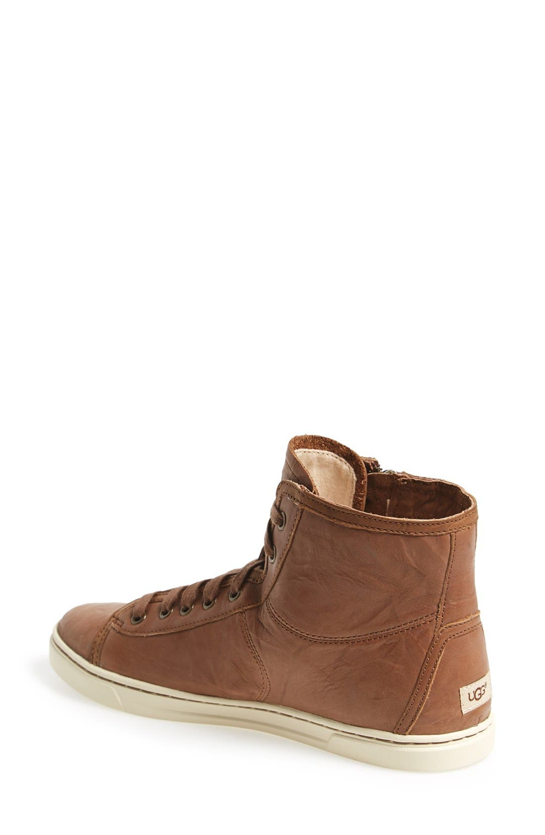 Alternate Image 2  - UGG® 'Blaney' Tasseled High Top Sneaker (Women)