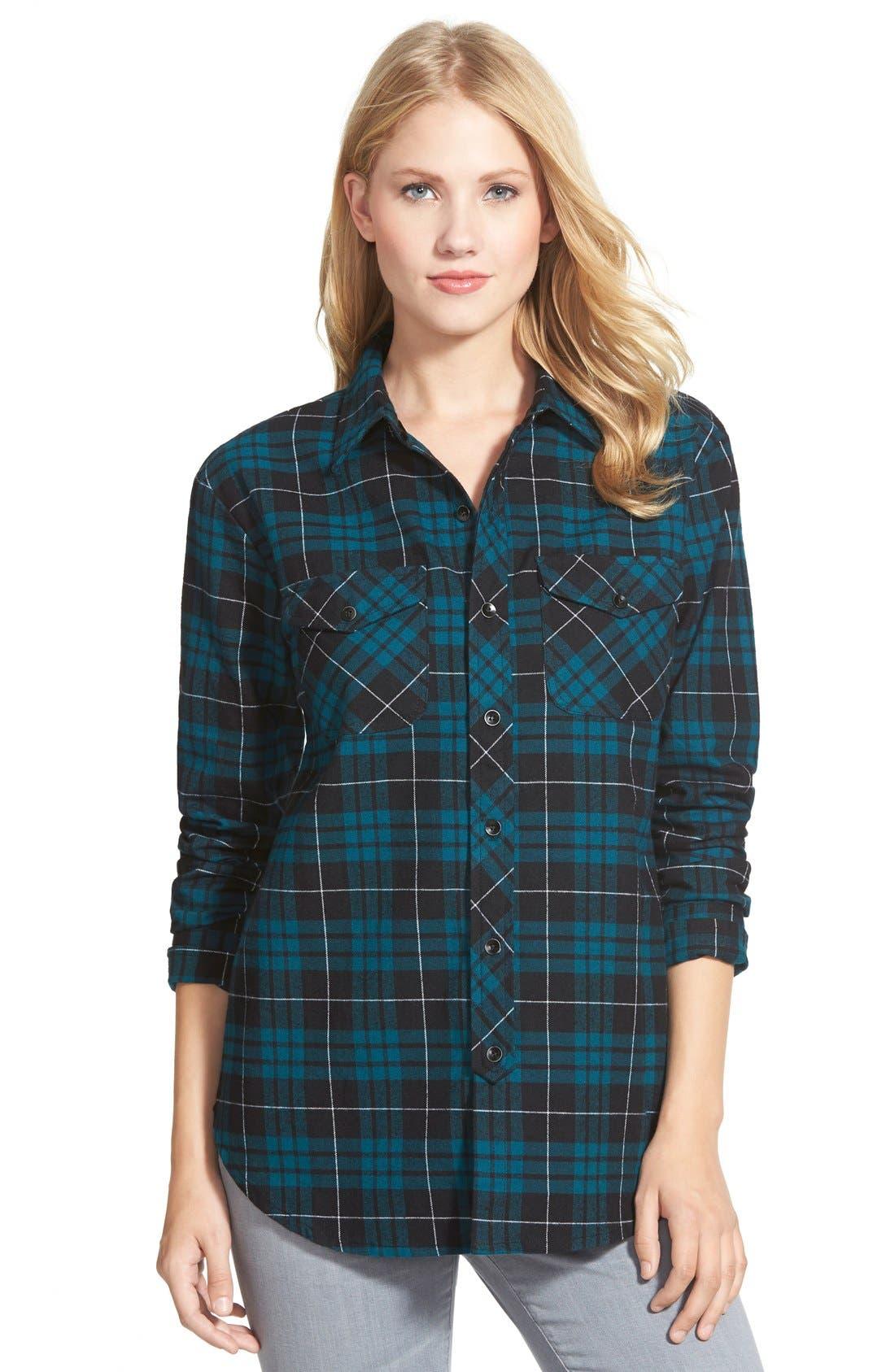 Alternate Image 1 Selected - Sandra Plaid Flannel Shirt
