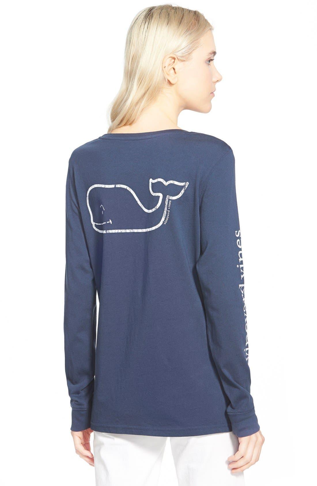 Alternate Image 2  - Vineyard Vines Whale Print Long Sleeve Tee