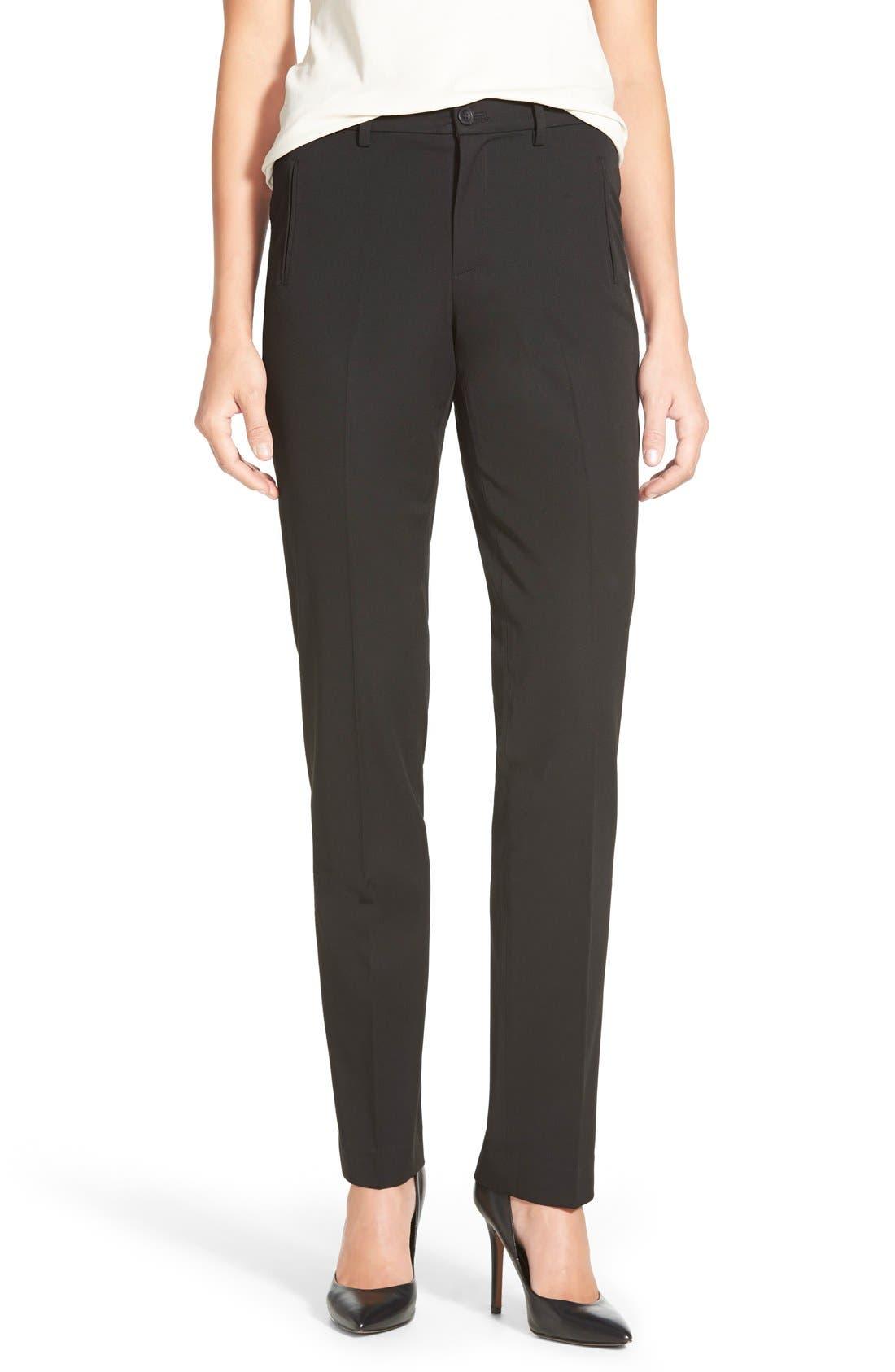 Alternate Image 1 Selected - NYDJ 'Sandrah' Stretch Slim Straight Leg Trousers (Regular & Petite)