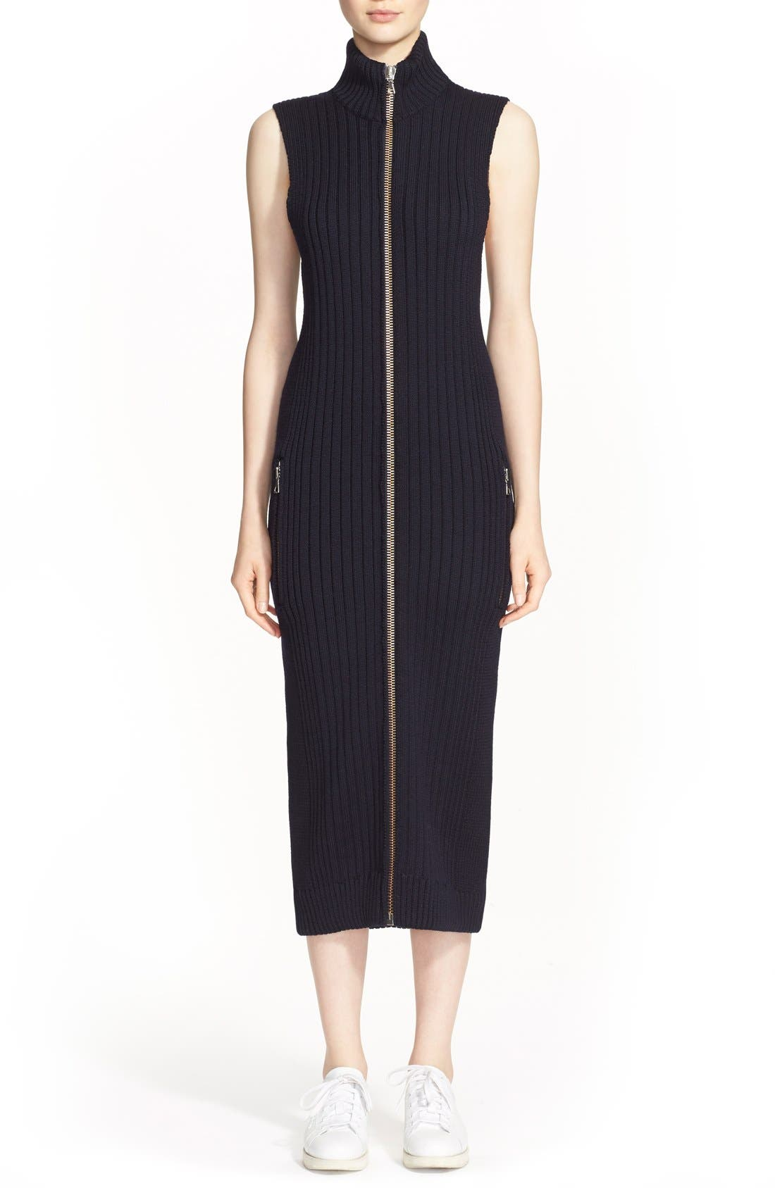 Alternate Image 1 Selected - ACNE Studios 'Benita Clean' Zip Front Sweater Dress
