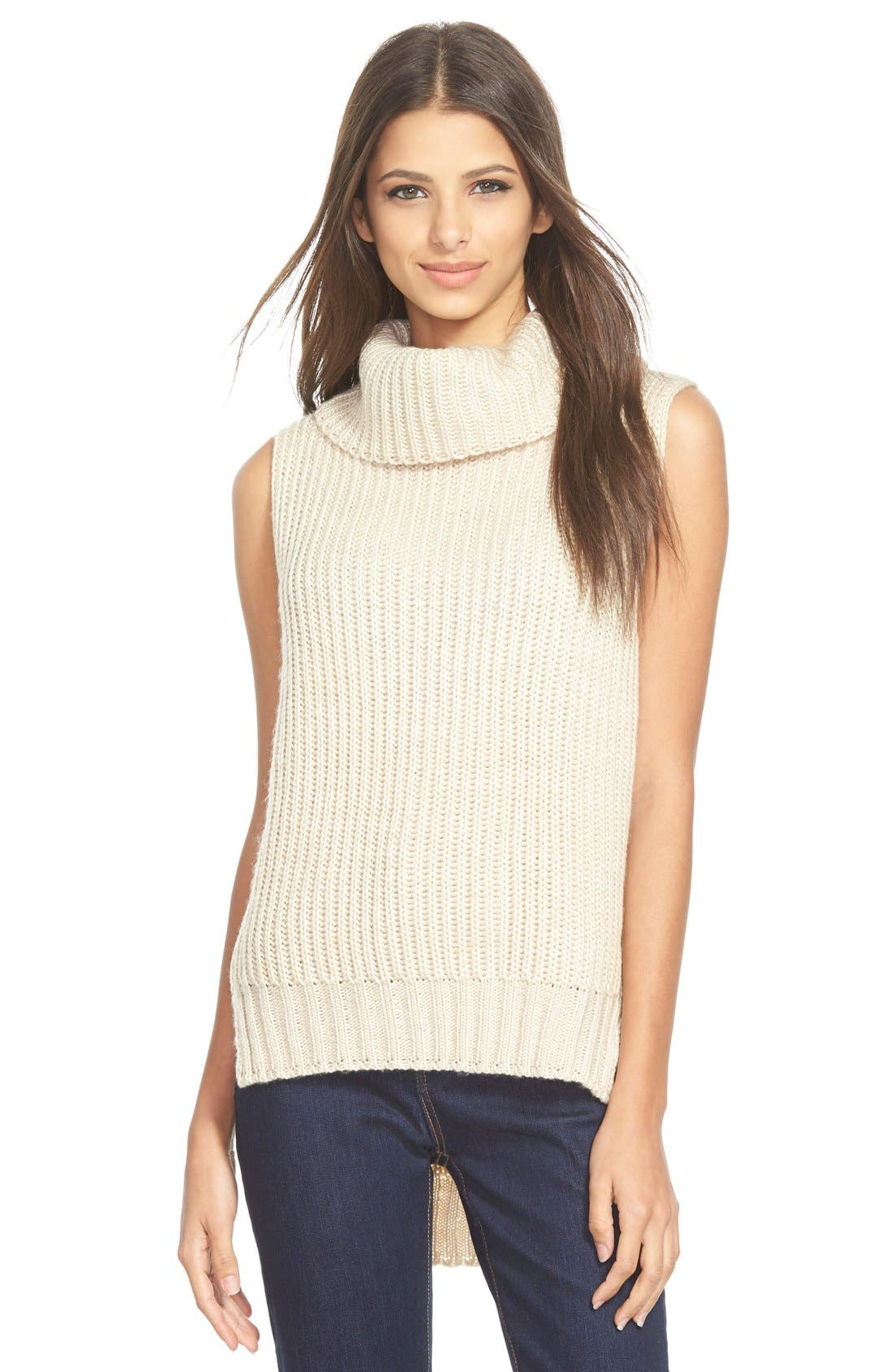 Alternate Image 1 Selected - ASTR High/Low Turtleneck Sweater