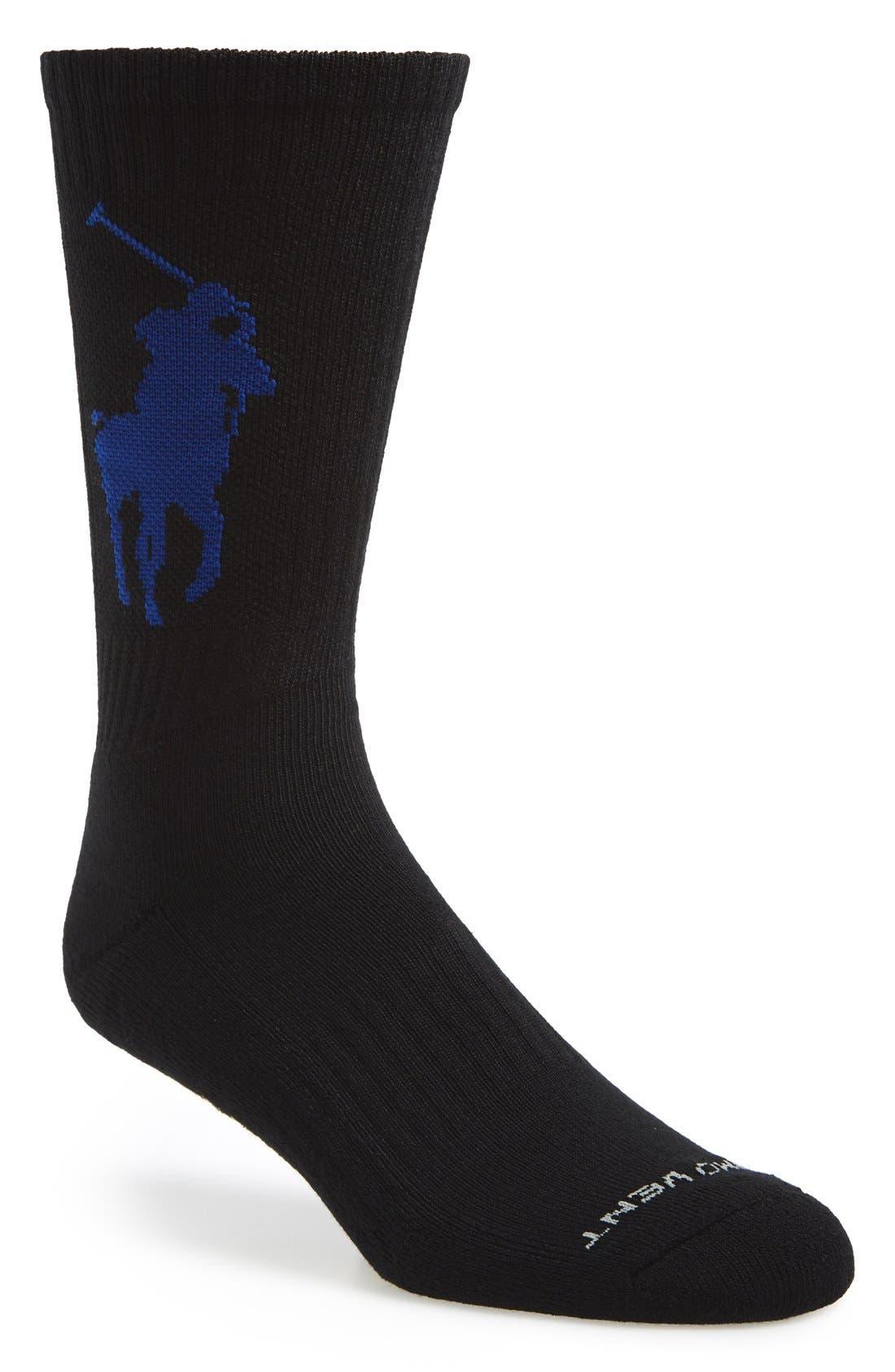 Alternate Image 1 Selected - Polo Ralph Lauren Performance Crew Socks