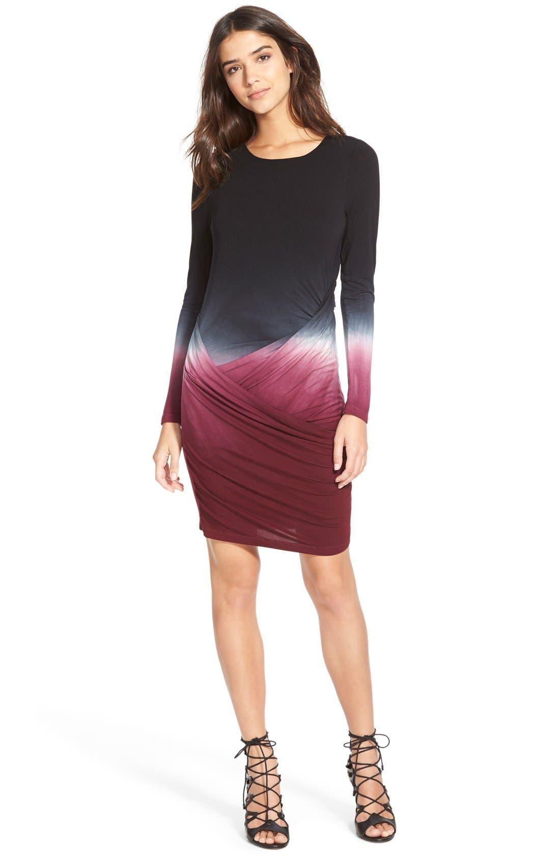 Alternate Image 1 Selected - Young,Fabulous&Broke 'Audrina' Wrap Detail Dress