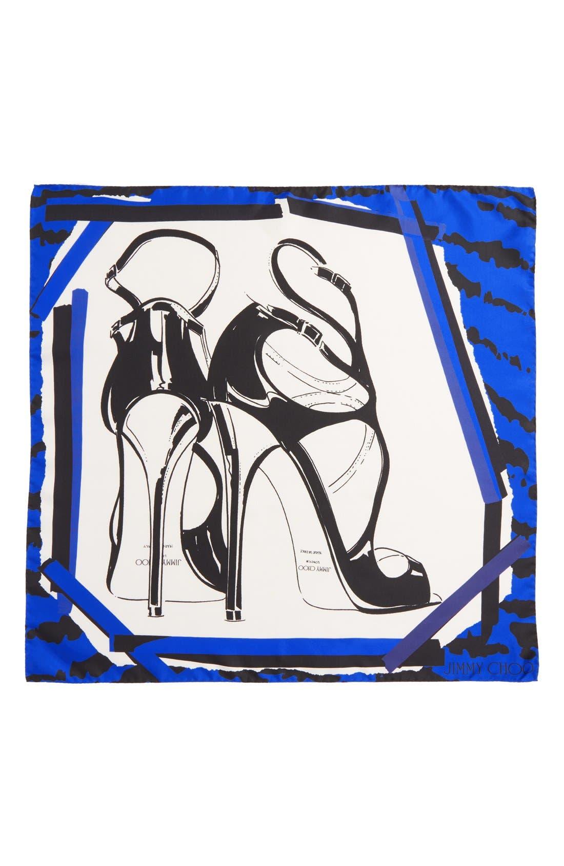 Alternate Image 2  - Jimmy Choo Shoe Print Silk Scarf