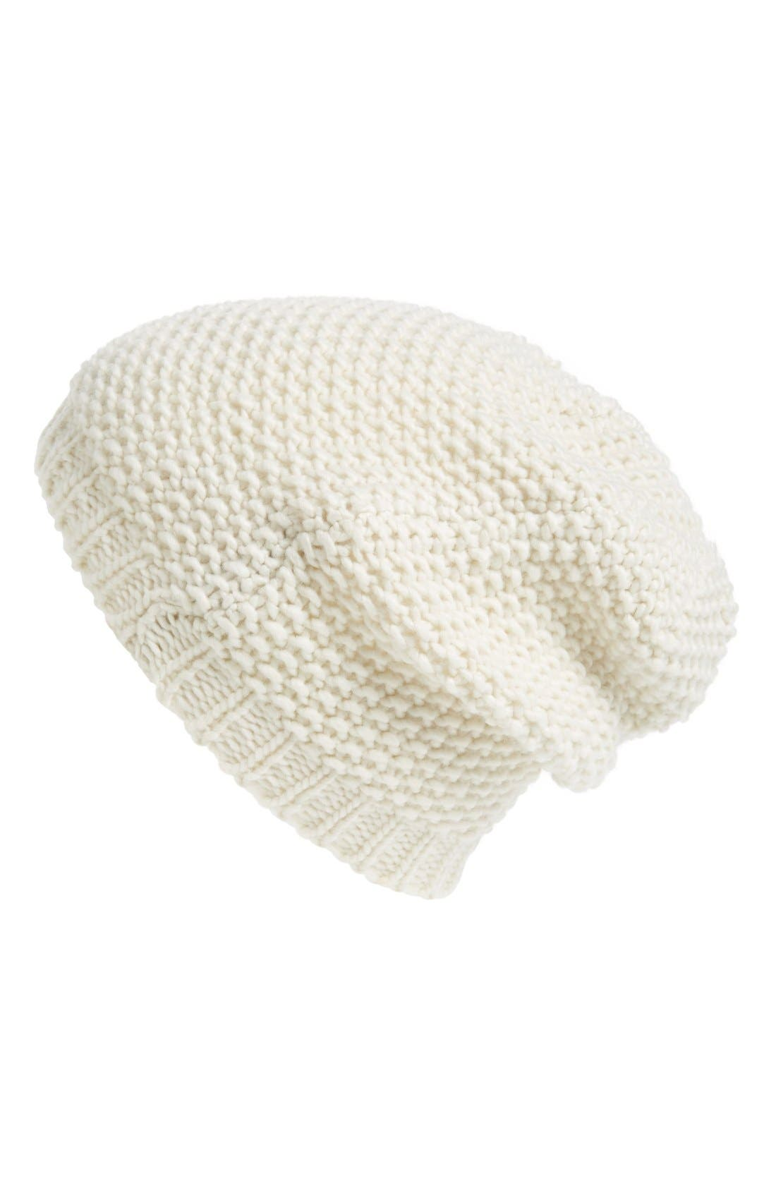Main Image - Phase 3 Basket Knit Slouchy Beanie