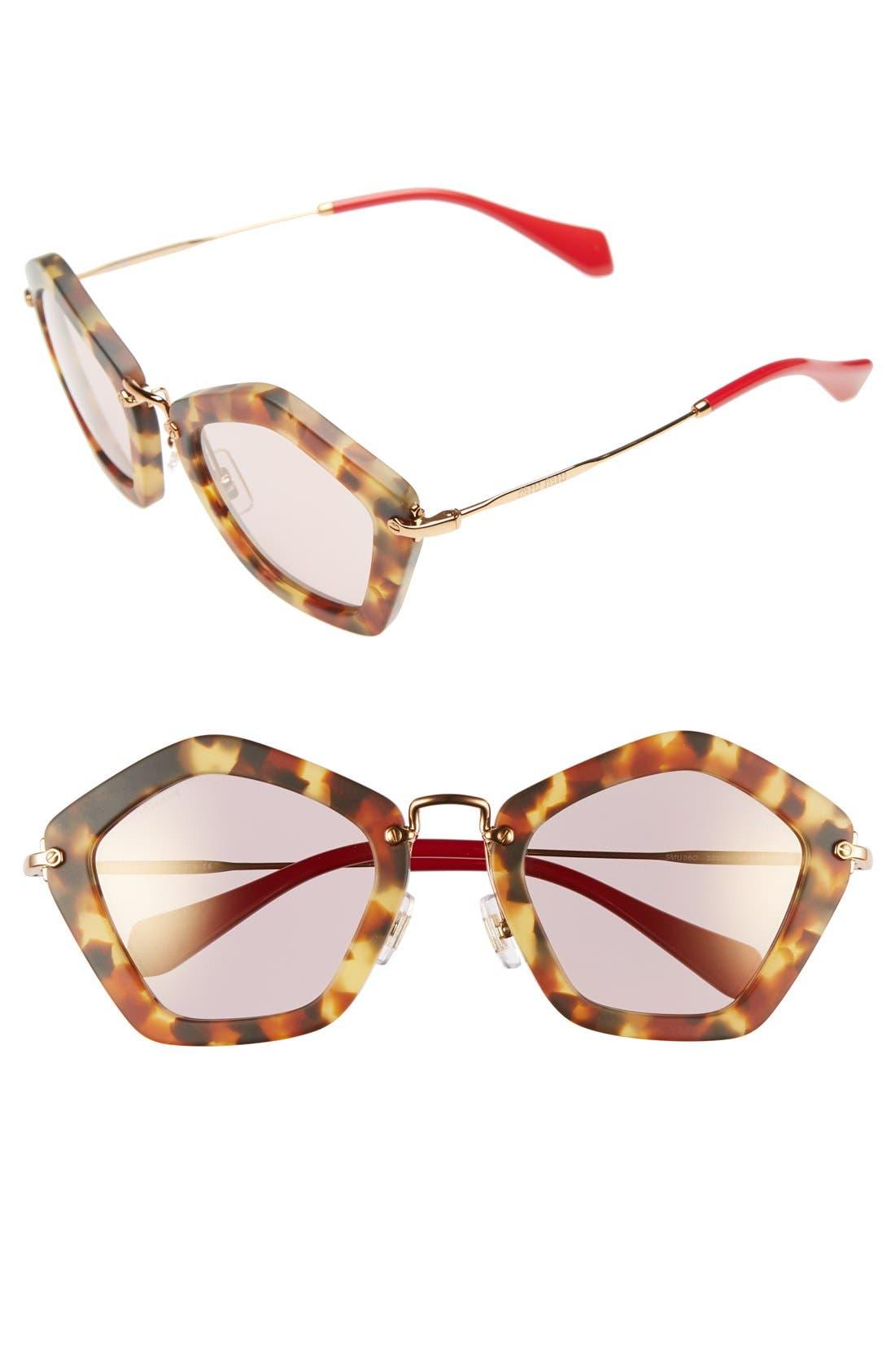 Alternate Image 1 Selected - Miu Miu 'Noir' 53mm Sunglasses