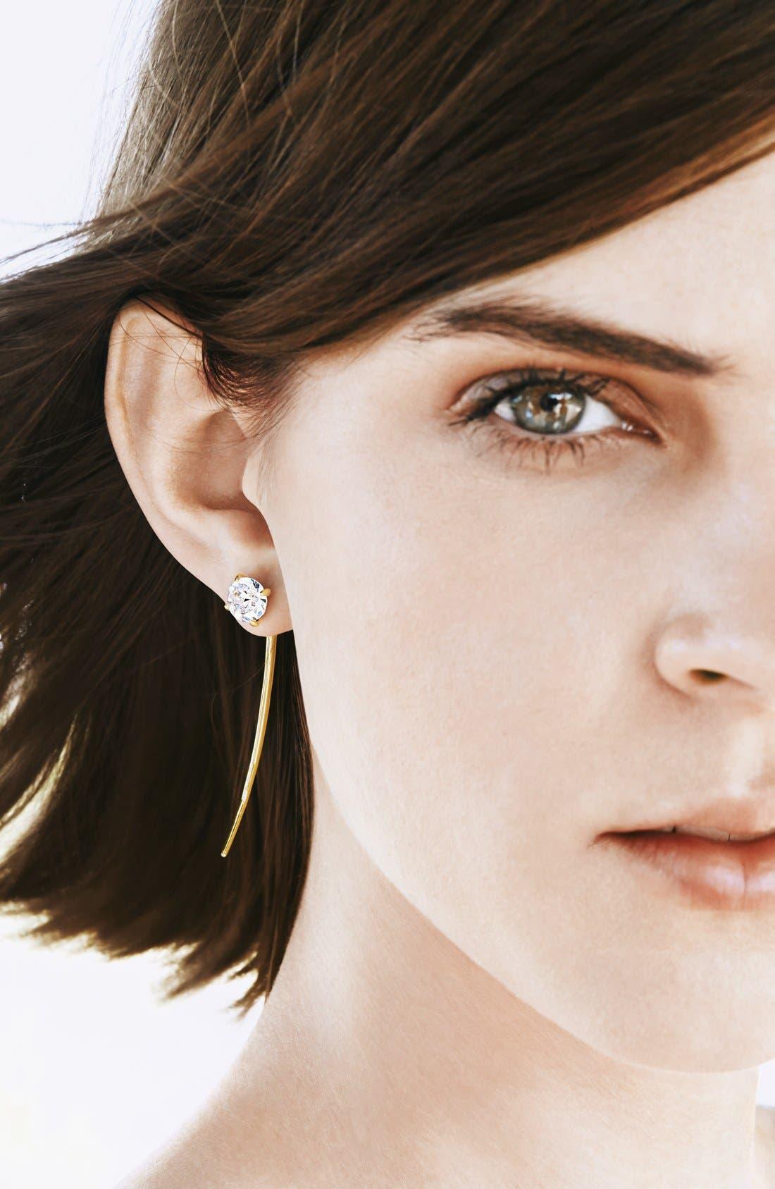 Alternate Image 3  - Covet Spike Linear Stud Earrings